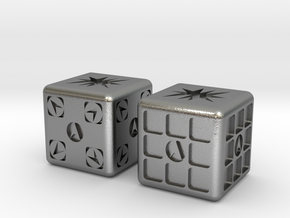 Test Printing Space Dice in Natural Silver