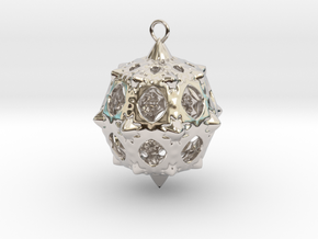 Christmas Bauble No.5 in Platinum