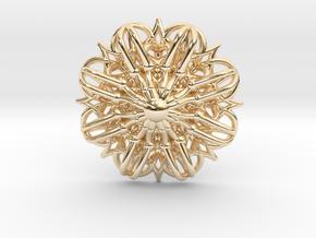 Mandala Stardust Pendant  in 14K Yellow Gold
