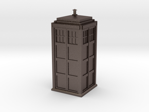 Doctor Who Tardis in Polished Bronzed Silver Steel