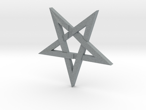 LaVey's Sigil Star Ornament (Part 1 of 2) in Polished Metallic Plastic
