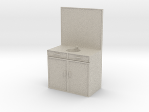 Mini Sink/Vanity for a Mini Bathroom in Natural Sandstone