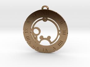 Shauna - Pendant in Natural Brass