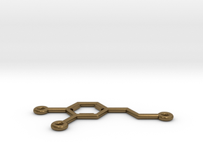 Dopamine Molecule Pendant or Earing in Natural Bronze