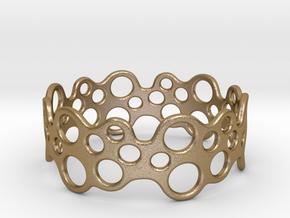 Bubbles Bracelet 68 in Polished Gold Steel