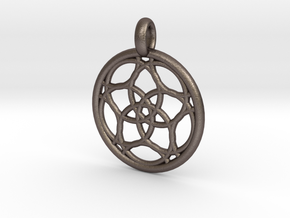 Himalia pendant in Polished Bronzed Silver Steel