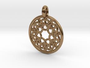 Elara pendant in Natural Brass