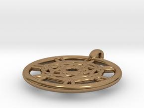 Harpalyke pendant in Natural Brass