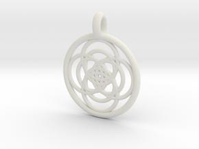 Iocaste pendant in White Natural Versatile Plastic