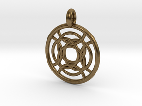 Taygete pendant in Natural Bronze