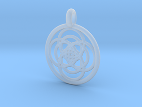Iocaste pendant in Smooth Fine Detail Plastic