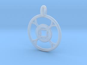 Leda pendant in Smooth Fine Detail Plastic