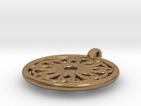 Megaclite pendant in Natural Brass