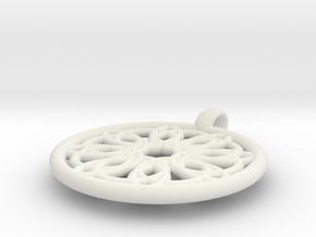 Megaclite pendant in White Natural Versatile Plastic