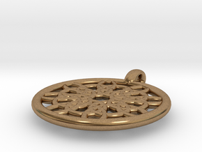 Mneme pendant in Natural Brass