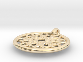 Mneme pendant in 14K Yellow Gold
