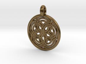 Carpo pendant in Natural Bronze