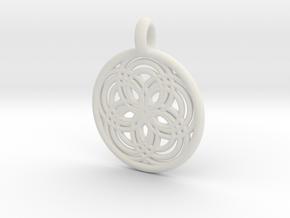 Carpo pendant in White Natural Versatile Plastic
