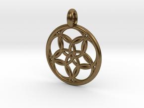 Hegemone pendant in Natural Bronze