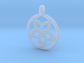 Hegemone pendant in Smooth Fine Detail Plastic