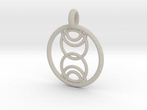 Kore pendant in Natural Sandstone
