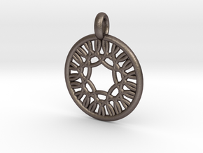 Herse pendant in Polished Bronzed Silver Steel