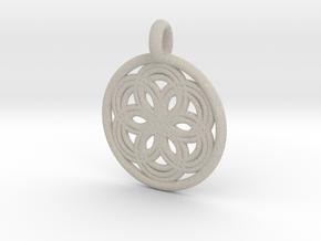 Thyone pendant in Natural Sandstone