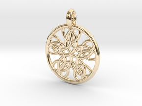 Isonoe pendant in 14K Yellow Gold