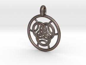Praxidike pendant in Polished Bronzed Silver Steel