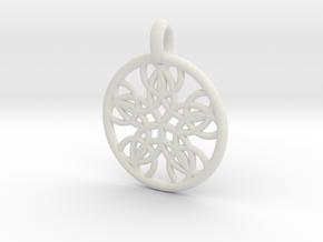 Isonoe pendant in White Natural Versatile Plastic