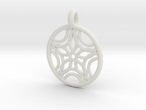 Sponde pendant in White Natural Versatile Plastic