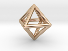 Octahedron in 14k Rose Gold
