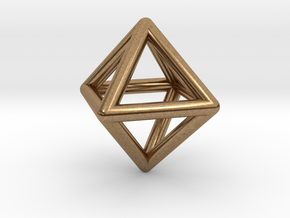 Octahedron in Natural Brass