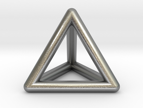 Tetrahedron in Natural Silver