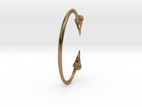 Crow Cuff Bracelet 82mm ID in Natural Brass