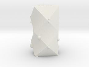 Salt Shaker 'Alfa' in White Natural Versatile Plastic