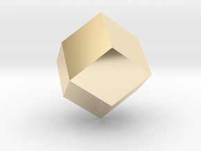 rhombic dodecahedron in 14K Yellow Gold
