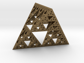 Geometric Sierpinski Tetrahedron level 4 in Natural Bronze