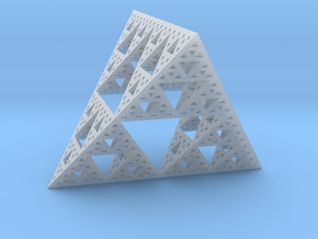 Geometric Sierpinski Tetrahedron level 4 in Smooth Fine Detail Plastic