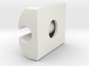 Iphone Cable Clip in White Natural Versatile Plastic