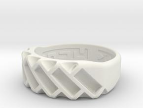 US10 Ring XVII: Tritium in White Natural Versatile Plastic