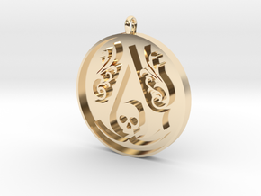 Assassin's Creed - Black Flag Medal Pendant in 14K Yellow Gold