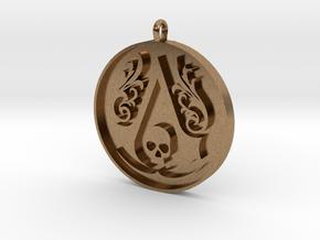 Assassin's Creed - Black Flag Medal Pendant in Natural Brass