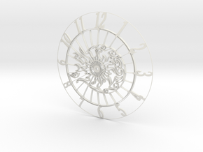 Sun-Moon Clock Face (Mark II) in White Strong & Flexible