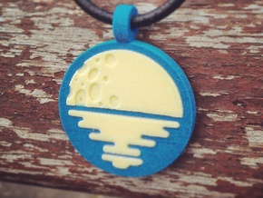 'Moonrise' Jewelry Pendant in Sandstone in Full Color Sandstone
