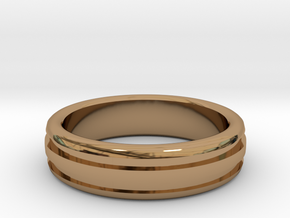 Man's Wedding Band M-004 in Polished Brass
