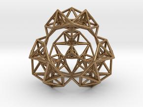 Inversion of a Sierpinski Tetrahedron in Natural Brass