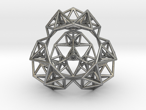 Inversion of a Sierpinski Tetrahedron in Natural Silver