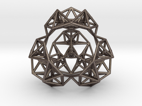 Inversion of a Sierpinski Tetrahedron in Polished Bronzed Silver Steel