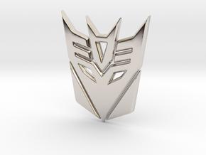 Decepticon Logo in Platinum